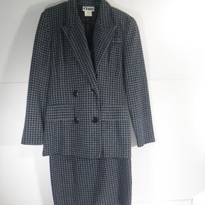 D' Knits Double Breasted Blazer & Skirt Suit (M)